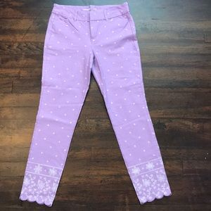 Lilac with white accent pixie pants